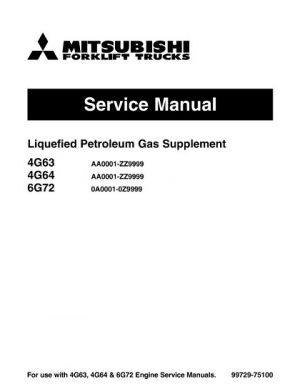 Mitsubishi FG35 FG40 Forklift Trucks Service Repair Manual