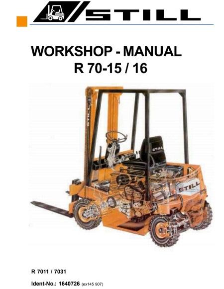 Still R70-15, R70-16 Forklift Service Repair Manual