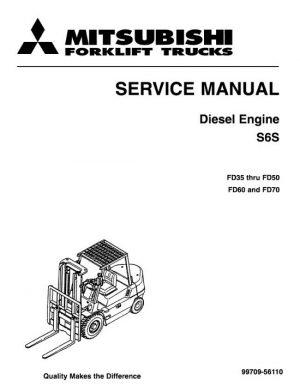 Mitsubishi FD35 FD40 FD45 FD50 FD50C Forklift Trucks Service Repair Manual