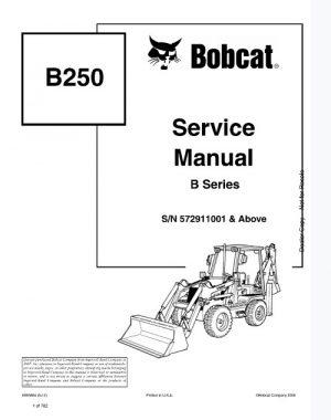 Bobcat B250 Loader Backhoe Service Manual