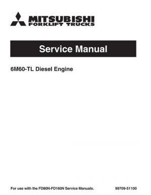 Mitsubishi FD80N FD90N Forklift Trucks Service Manual