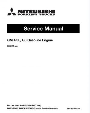 Mitsubishi FG50 Forklift Trucks (Engine) Service Manual