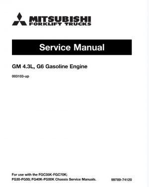 Mitsubishi FG50 Forklift Trucks (Engine) Service Manual