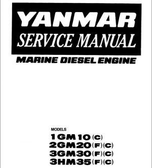 Yanmar 1GM10, 2GM20, 3GM30, 3HM35 Marine Diesel Engine Service Manual
