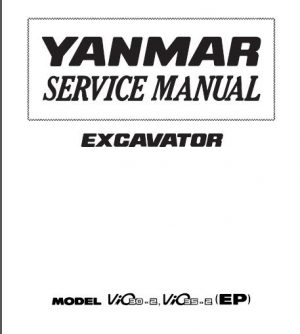 Yanmar SMViO30-2 ViO35-2 Excavator Service Manual