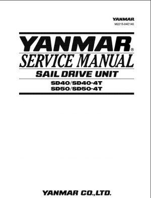 Yanmar Sail Drive Unit Sd40, Sd40-4t, Sd50, Sd50-4t Service Manual