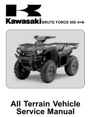 2006-2012 Kawasaki Brute Force 650 4x4i Atv Service Repair Manual