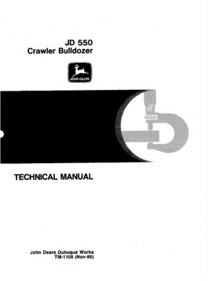 John Deere 550 Crawler Dozer Service Technical Manual