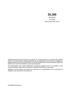 Doosan DL300 Wheel Loader Service Manual